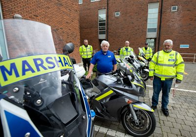 Pictured are Bike Marshalls, Colm O'Regan, Denis Morgan, President, Seamus Walsh, Tony Guerin and  John O'Brien ready to collect and deliver the finished product from LIT. Picture: Alan Place