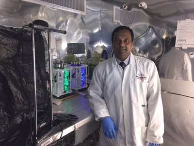 Pictured at Shannon ABC on LIT's Moylish campus after being awarded €225k for a new microalgae cultivation suite, the first of its kind in Ireland, Principal Investigator Dr Sushanta Saha